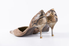 Кожа ботинок новая Стоковые Изображения RF