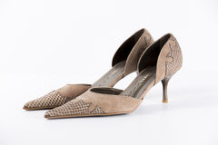 Кожа ботинок новая Стоковые Изображения