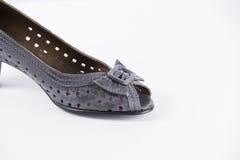 Кожа ботинок новая Стоковое Фото