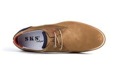 Кожа ботинок новая Стоковое Изображение