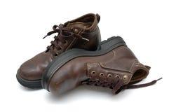 кожа ботинок Стоковое Изображение