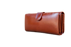 Кожа бумажника женщины Стоковые Изображения RF