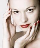 кожа внимательности красотки Стоковая Фотография RF