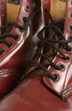 кожа детали ботинка Стоковое Изображение