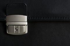 кожа детали пряжки портфеля Стоковое фото RF