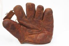 кожа для перчаток бейсбола старая Стоковая Фотография RF