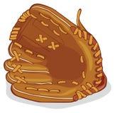 кожа для перчаток бейсбола Стоковые Фото