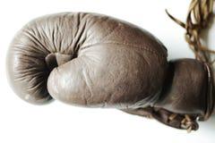 кожа для перчаток бокса старая Стоковое Изображение