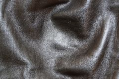Кожа, естественный, черный цвет, конец-вверх Стоковое Изображение