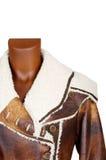 кожа женщины пальто Стоковое фото RF