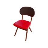 кожа изолированная креслом Стоковое Фото