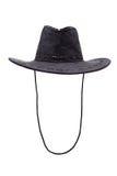 кожа изолированная черной шляпой Стоковое Изображение