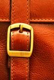 кожа итальянки пряжки портфеля Стоковая Фотография RF