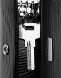 кожа ключа дома держателя Стоковое Фото
