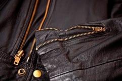 кожа куртки Стоковое Изображение