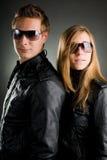 кожа курток пар Стоковые Фотографии RF