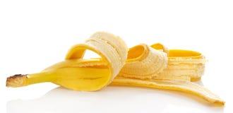 Кожа от съеденного банана Стоковое Изображение