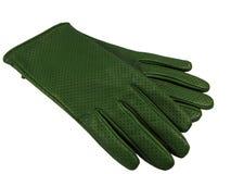 кожа перчаток зеленая стоковые фотографии rf