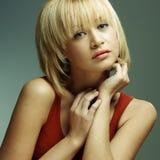 кожа портрета красивейшей девушки совершенная Стоковое Изображение RF
