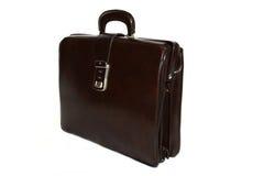 кожа портфеля коричневая шикарная Стоковое Изображение
