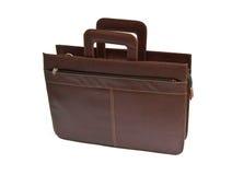кожа портфеля коричневая Стоковое фото RF