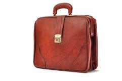 кожа портфеля коричневая Стоковые Фото