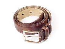 кожа пояса коричневая Стоковое Изображение RF