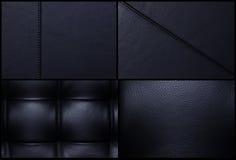 кожа предпосылок черная навальная Стоковая Фотография RF