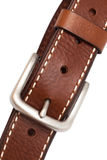 кожа пряжки пояса Стоковое Изображение RF