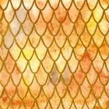 Кожа дракона вычисляет по маcштабу желтую оранжевую предпосылку текстуры картины золота Стоковая Фотография RF