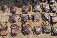 Кожа сумки handmade Стоковое фото RF