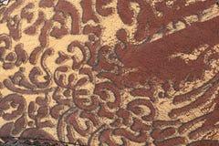 Кожа флористического орнамента Стоковое Изображение