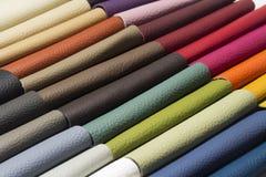 Кожа хорошего качества в различных цветах Стоковые Изображения RF