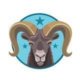 Коза горы значка Стоковая Фотография