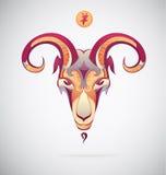 Коза как китайский символ на год 2015 Стоковое Изображение