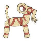 Коза Yule соломы Стоковые Фотографии RF