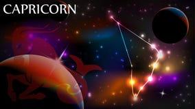 Козерог - астрологический космос знака и экземпляра Стоковые Фото