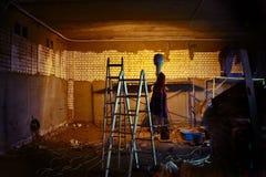 Козы конструкции в восстановленных предпосылках здания Стоковая Фотография