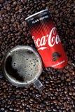 Кока-кола плюс кофе стоковое изображение rf