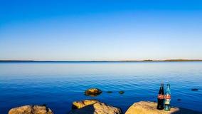 Кока-кола и озеро Стоковые Фотографии RF