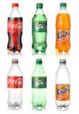 Кока-кола, спрайт и Fanta Стоковая Фотография