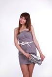 Кокетливая девушка с мешком Стоковое фото RF