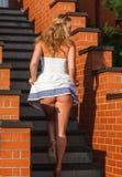 Кокетливая молодая красивая женщина Стоковая Фотография