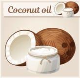 Кокосовое масло в бутылке бесплатная иллюстрация