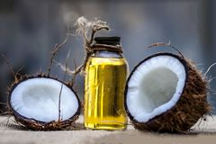 Кокос & кокосовое масло Стоковое фото RF