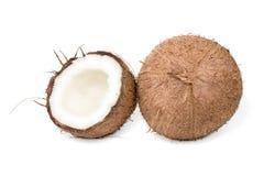 кокос наполовину весь Стоковая Фотография RF