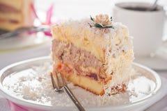 кокос торта Стоковая Фотография