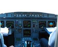 кокпит авиалайнера Стоковые Фотографии RF