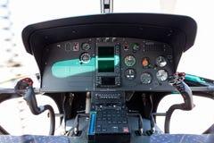 Кокпит вертолета Стоковая Фотография