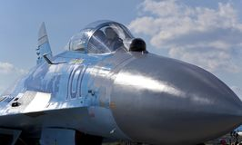 Кокпит самолет-истребителя MIG-29, Стоковые Изображения RF
